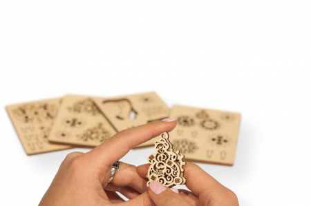 Puzzle 3D Mecanic, U-Fidget Gearsmas, 13-19 piese [4]