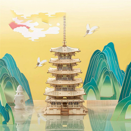 Puzzle 3D, Pagoda, 275 piese [2]