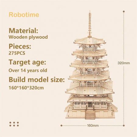 Puzzle 3D, Pagoda, 275 piese [3]