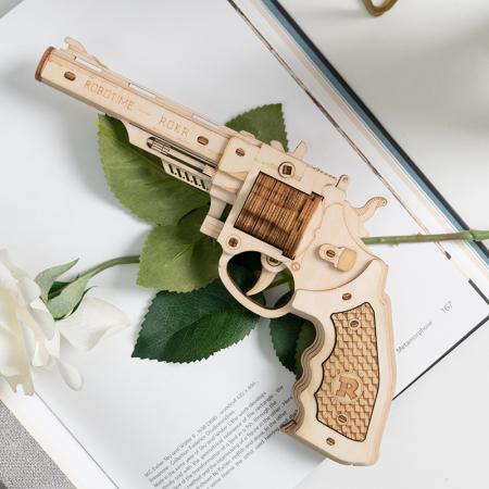Puzzle 3D, Pistol Corsac M60, Lemn, 102 piese2