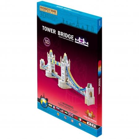 Puzzle 3D Podul Turnului, Lemn, 93 piese [1]