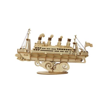 Puzzle 3D Cruise Ship, Lemn, 145 piese0