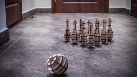 Puzzle 3D, Set mini bowling, 131 piese3