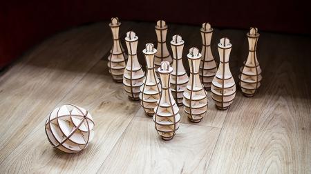 Puzzle 3D, Set mini bowling, 131 piese1