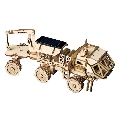 Puzzle 3D spatial, cu baterie solara, Navitas Rover, Lemn, 252 piese0