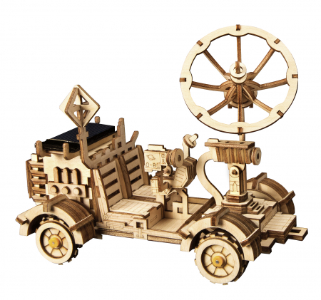 Puzzle 3D spatial, cu baterie solara, Rambler Rover, Lemn, 175 piese0