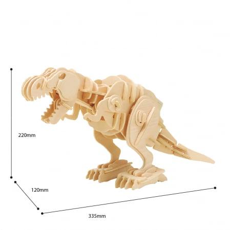 Puzzle 3D T-Rex mobil, Lemn, 90 piese1
