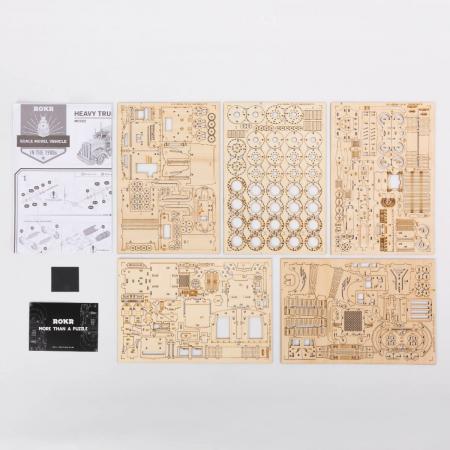 Puzzle 3D Tir, Lemn, 286 piese3