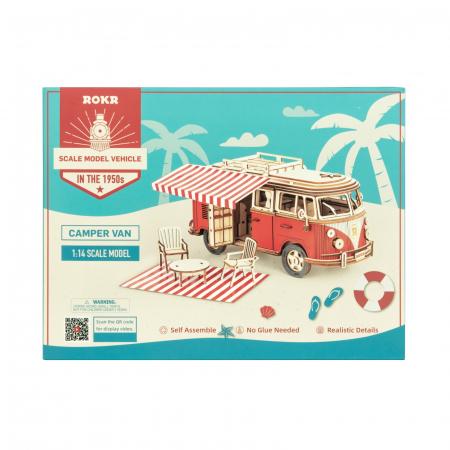 Puzzle 3D Camper Van, Lemn, 242 piese5