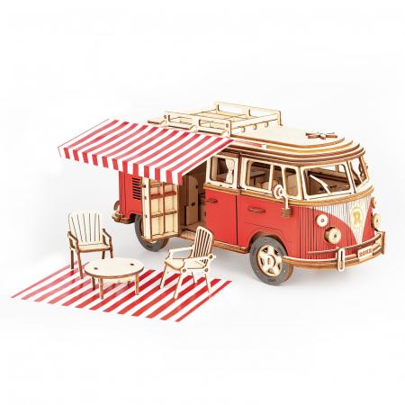 Puzzle 3D Camper Van, Lemn, 242 piese0