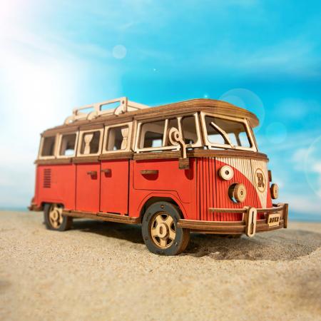 Puzzle 3D Camper Van, Lemn, 242 piese1