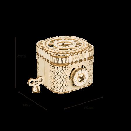 Puzzle 3D Treasure Box, Lemn, 123 piese [7]