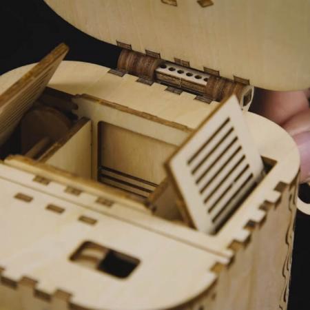 Puzzle 3D Treasure Box, Lemn, 123 piese [3]