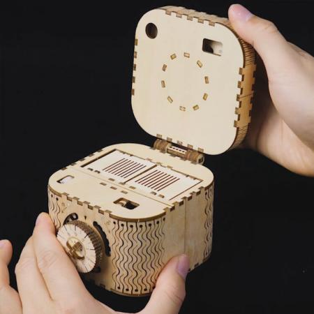 Puzzle 3D Treasure Box, Lemn, 123 piese [5]