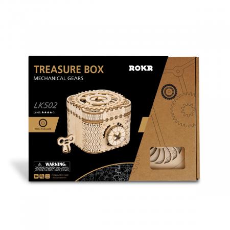 Puzzle 3D Treasure Box, Lemn, 123 piese [6]