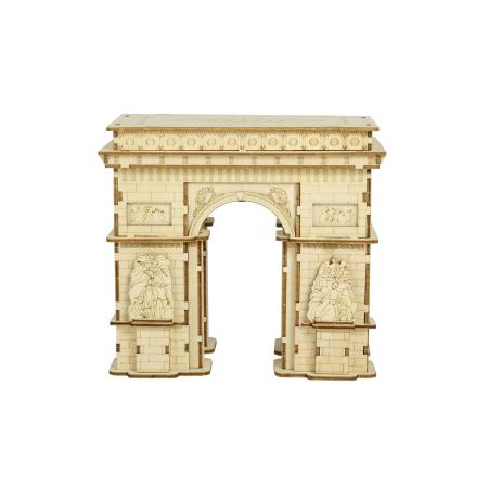 Puzzle 3D Arcul de Triumf, Lemn, 118 piese0
