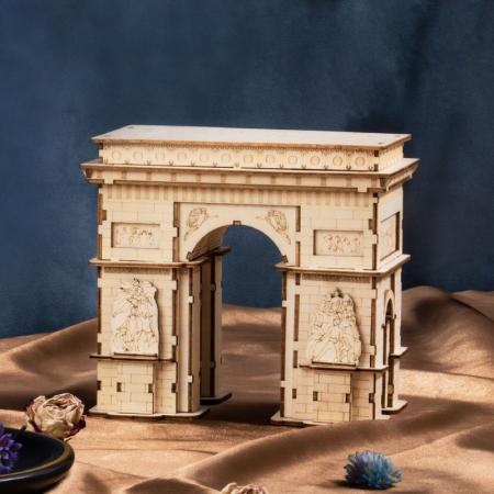 Puzzle 3D Arcul de Triumf, Lemn, 118 piese1