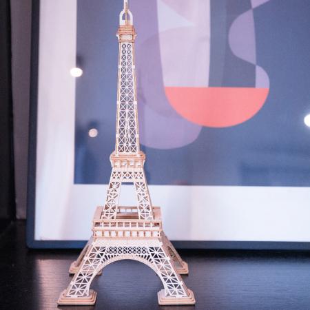 Puzzle 3D Turnul Eiffel, Lemn, 122 piese2