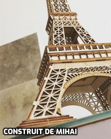 Puzzle 3D Turnul Eiffel, Lemn, 122 piese [8]