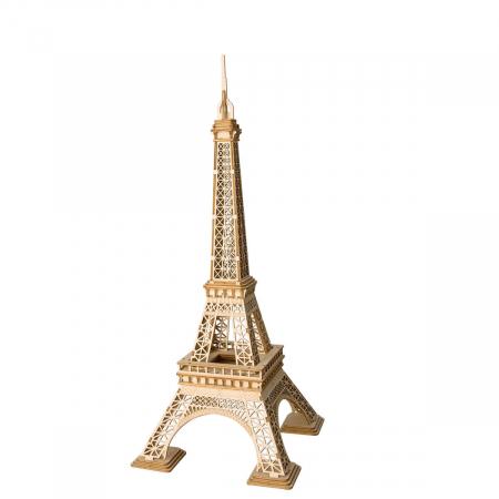 Puzzle 3D Turnul Eiffel, Lemn, 122 piese0
