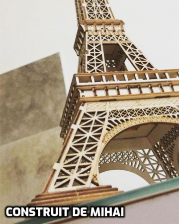 Puzzle 3D Turnul Eiffel, Lemn, 122 piese [2]