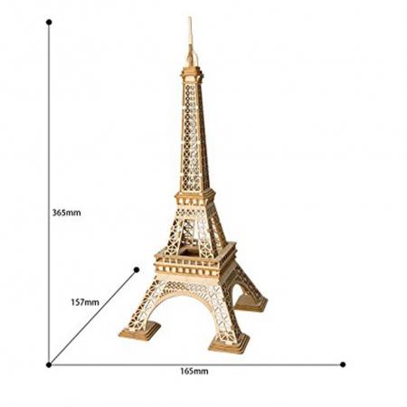 Puzzle 3D Turnul Eiffel, Lemn, 122 piese4