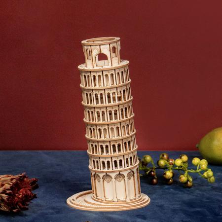 Puzzle 3D Turnul din Pisa, Lemn, 137 piese [3]