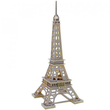 Puzzle 3D Turnul Eiffel, Lemn, 63 piese [0]