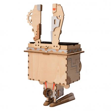 Puzzle 3D din lemn, Ghiveci - iepuras, 66 piese [2]