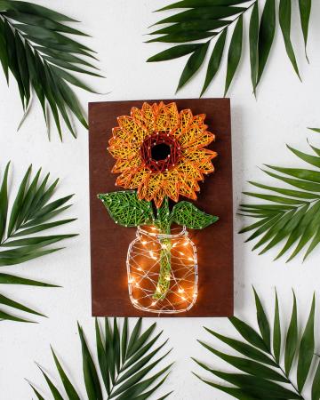 Set Art -string, Floarea soarelui, 7 culori, 19x29 cm1
