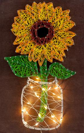 Set Art -string, Floarea soarelui, 7 culori, 19x29 cm0