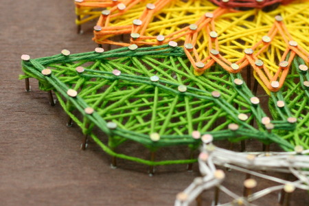 Set Art -string, Floarea soarelui, 7 culori, 19x29 cm3