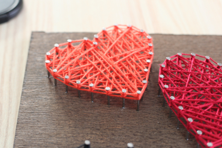 Set Art -string, Iubire, 4 culori, 19x29 cm3