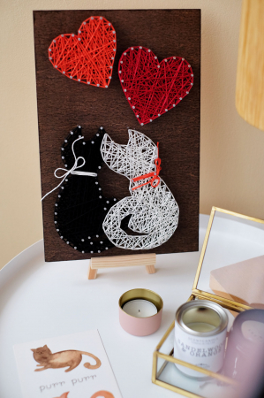Set Art -string, Iubire, 4 culori, 19x29 cm5