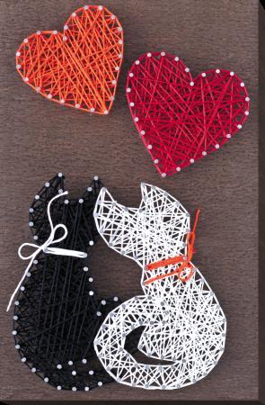 Set Art -string, Iubire, 4 culori, 19x29 cm0