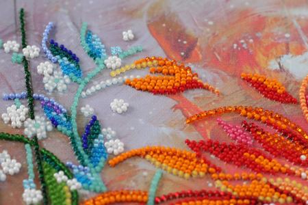 Set broderie cu margele cusute, Culori aprinse, 35 culori, 25x34 cm1
