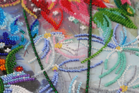 Set broderie cu margele cusute, Culori aprinse, 35 culori, 25x34 cm3