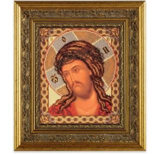 Set broderie cu margele cusute, Iisus, 20x24 cm [1]