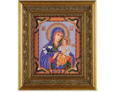 Set broderie cu margele cusute, Maica Domnului, 20x24 cm [1]