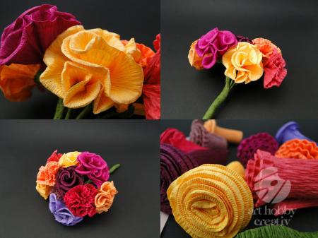 Buchet de flori din hartie, Vara [1]