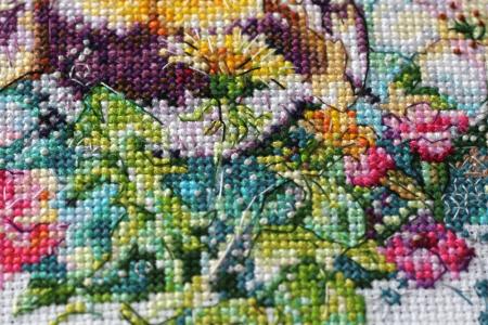 Set goblen cross-stich, Panza de paianjen, 40 culori, 19x22 cm4