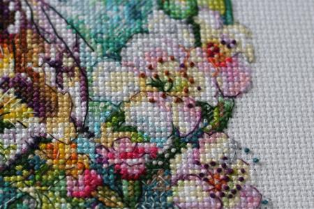 Set goblen cross-stich, Panza de paianjen, 40 culori, 19x22 cm3
