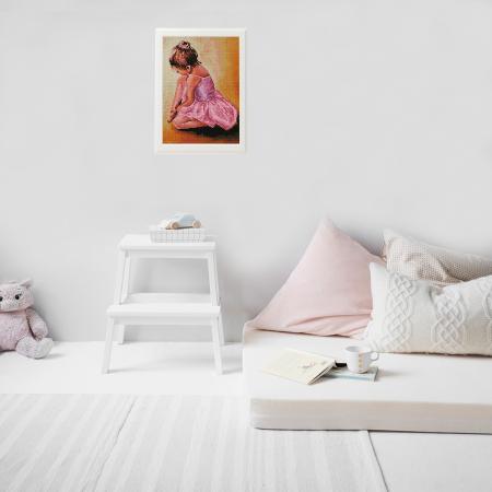 Set goblen cu diamante, cu sasiu, Ballerina Baby, 30x40 cm1