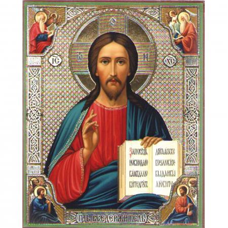 Set goblen cu diamante, cu sasiu, Icoana - Isus Hristos, 40x50 cm0