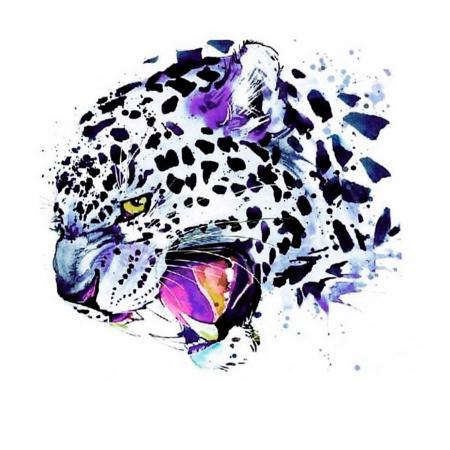 Set goblen cu diamante, cu sasiu, Leopard de zapada, 30x40 cm0