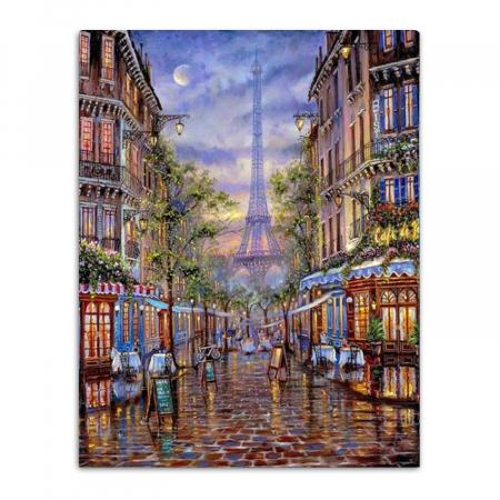 Set goblen cu diamante, cu sasiu, Paris, 40x50 cm0