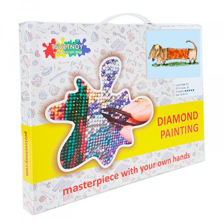 Set goblen cu diamante, cu sasiu, Lilo, 17x22 cm2