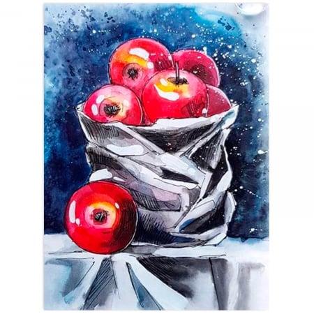 Goblen cu Diamante, cu sasiu, Natura moarta cu mere, 40x50 cm [0]
