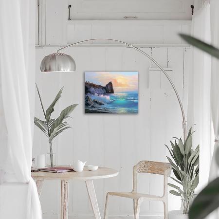 Set goblen cu diamante, cu sasiu, Peisaj de Coasta, 40x50 cm [2]