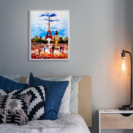 Set goblen cu diamante, cu sasiu, Turnul Eiffel, 40x50 [4]